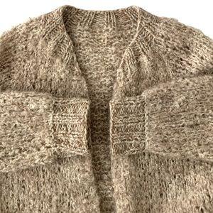 Hand knit Bouclé Open Cardigan
